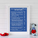 Thumb personalised superhero powers print