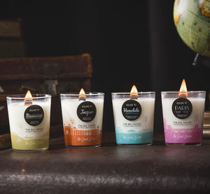 Set Of Four Mini Scented Crackling Soy Candles