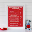 Bespoke Superhero Powers Print - Red