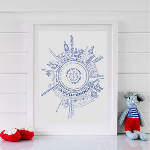Personalised Alice In Wonderland Story Print
