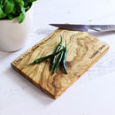Personalised Olive Wood Chopping Board