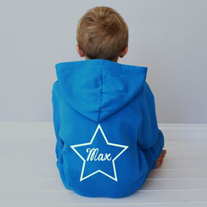 Personalised Glow In The Dark Star Kids Onesie - babies' nightwear