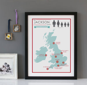 Personalised Favourite Places Print - shop by price