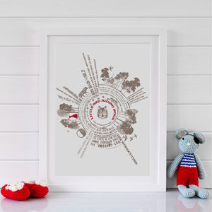 Personalised Little Red Riding Hood Story Print - posters & prints for children
