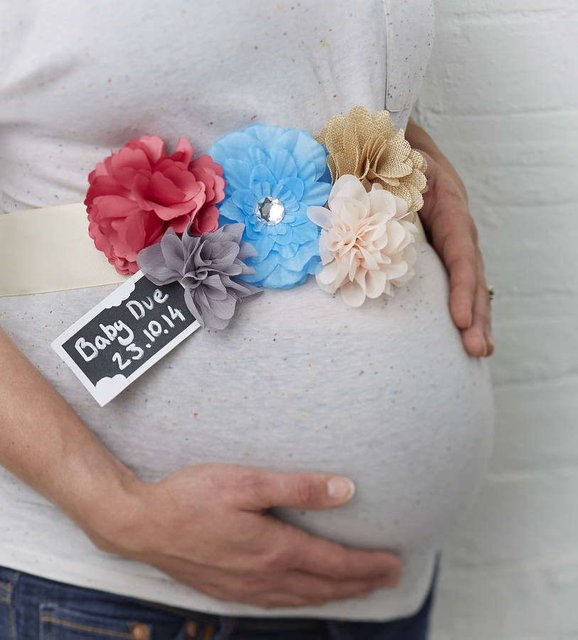 Mother To Be Ribbon Sash With Tag And Flowers By Ginger