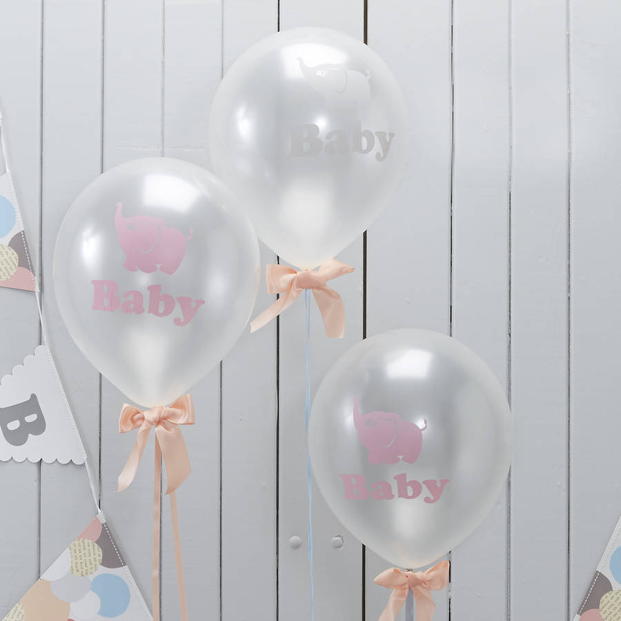 baby elephant party balloons by ginger ray
