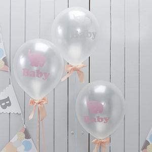 Baby Elephant Party Balloons - baby shower decorations