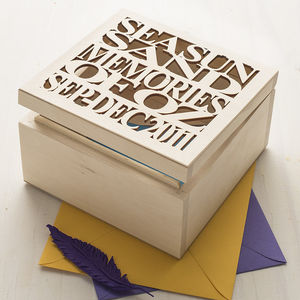 Personalised Wooden Couple's Keepsake Box - our memories