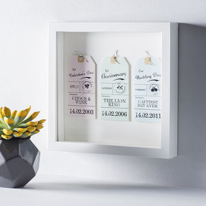 Personalised Mounted Luggage Tags - wedding gifts
