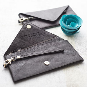 Love Letter Envelope Leather Clutch - gifts for her sale