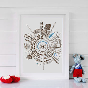 Children's Treasure Island Story Print