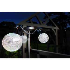 Promenade Three Ball Pole Solar Garden Light - lighting
