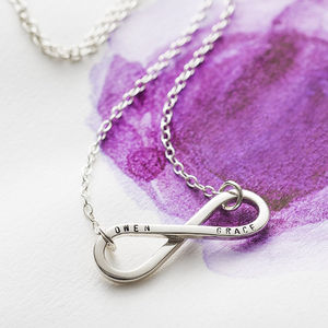 Personalised Silver Infinity Necklace - 40th birthday gifts