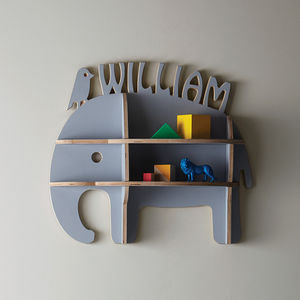 Personalised Child's Elephant Shelfie - gifts for babies & children