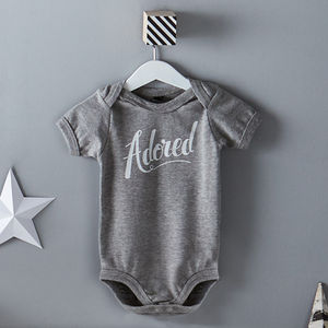 'Adored' Baby Bodysuit - shop by recipient