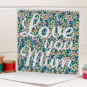 Love You Mum Script Handmade Card - mother's day cards