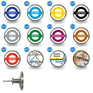 London Underground Tube Line Cupboard Knobs