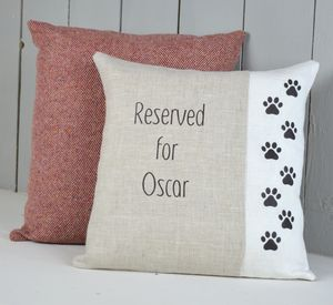 'Reserved For Cat' Personalised Cushion