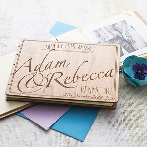Personalised Wedding Guest Book - 5th anniversary: wood