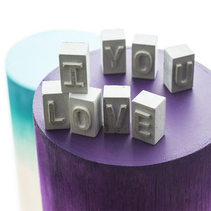 'I Love You' Mini Concrete Message - favourites