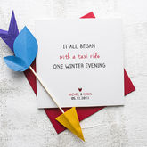 'It All Began' Anniversary Card - valentine's day