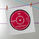 Personalised Record Label Valentine's Card