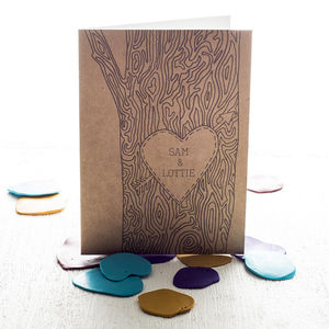 Personalised Tree Trunk Card - wedding, engagement & anniversary cards