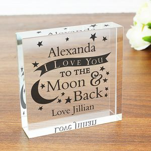 I Love You To The Moon Personalised Message Token