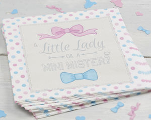 Little Lady Or Mini Mister Paper Party Napkins