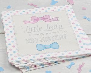 Little Lady Or Mini Mister Paper Party Napkins - kitchen