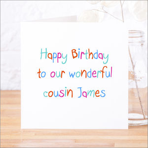Personalised Relations Happy Birthday Card