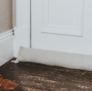 Plain Linen Draught Excluder