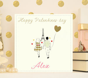 Personalised Engagement Or Valentine's Card 'Paris' - wedding cards & wrap