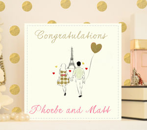 Personalised Engagement Or Anniversary Card 'Paris' - wedding cards & wrap