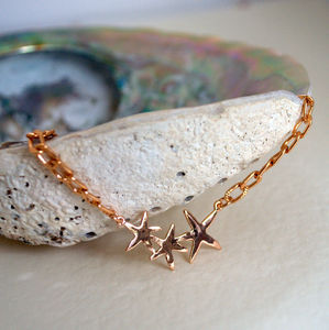 Rose Gold Bright Stars Bracelet