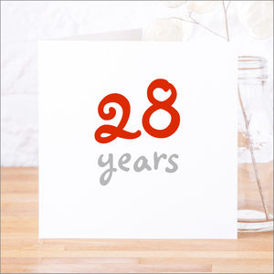 Personalised 'Years' Birthday Or Anniversary Card