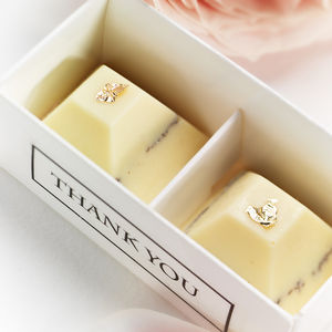 Set Of 25 Boxed Chocolate Wedding Favours - edible favours