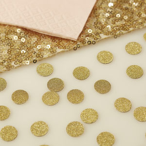 Gold Glitter Table Confetti - dining room