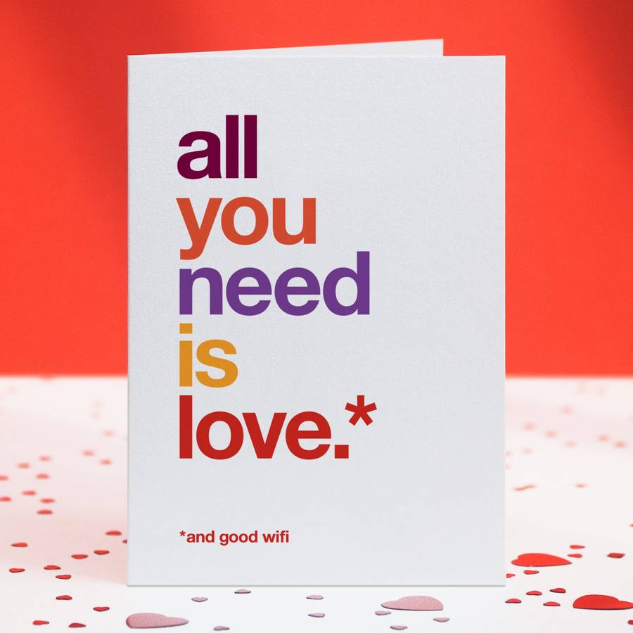 'And Good Wifi' Funny Love Card