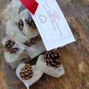 Personalised Heart Shaped Pine Cone Firelighters