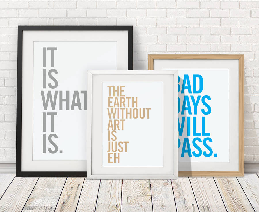 Personalised Quote Print By Over Over Notonthehighstreetcom