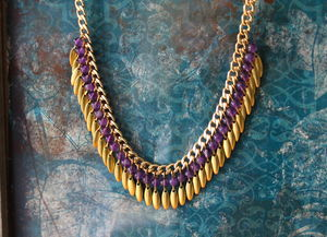 Statement Amethyst Necklace - statement jewellery