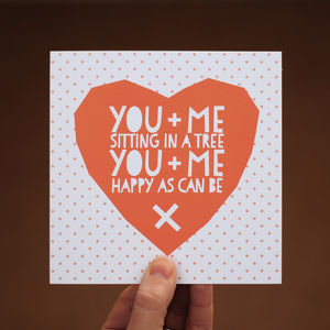 You And Me Valentines Card - shop by occasion