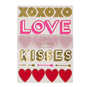 Love Heart Stickers - wedding stationery