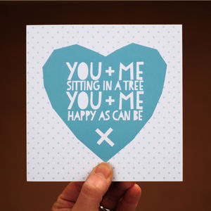 You And Me Anniversary Card - winter sale