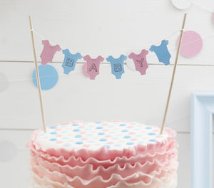 Baby Cake Bunting Decoration Topper