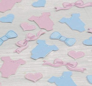 Pink And Blue Babygrow Party Table Confetti - baby shower decorations