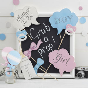 Baby Boy Or Girl Baby Shower Photo Booth Party Props