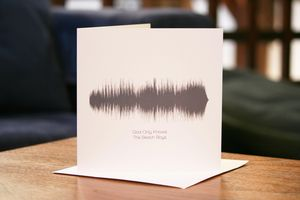 Song Sound Wave Valentines Cards With 50 Songs - love tokens