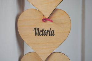 Personalised Hanging Hearts - gifts for mothers